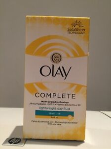 Olay Complete Lightweight Day Fluid for SENSITIVE Skin SPF15 damaged box
