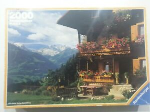 Ravensburger 2000 Piece Jigsaw Puzzle Vorarlberger Land Region of Austria 1988