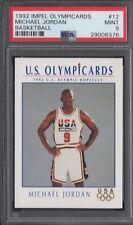 PSA 9 MICHAEL JORDAN 1992 IMPEL OLYMPICARDS USA DREAM TEAM #12 BULLS RARE MINT