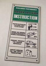 FIAT PANDA 4X4 VAN REPLICA TARGHETTA ISTRUZIONI ALLUMINIO