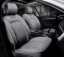 Deluxe Premium Grau Kunststoff Leder Vorne 1+1 Sitzbezüge Kissen Für