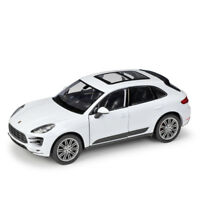 Welly 1:24 Porsche Macan Diecast Model Sports Racing Car Toy NEW IN BOX White