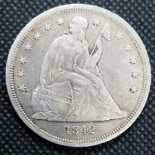 1842 Seated Liberty Dollar | CHOICE VERY FINE | Nice Early Seated Dollar!