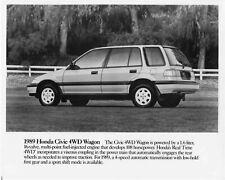 1989 Honda Civic 4WD Wagon Press Photo 0018