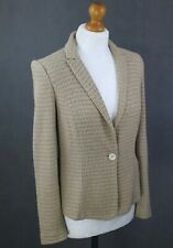 MARC CAIN Ladies Cotton & Linen Blend BLAZER / JACKET - Size N 2 - UK 10