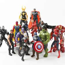 Marvel Super Hero Action Figures Toys Spiderman Iron Man Thor Loki Thanos