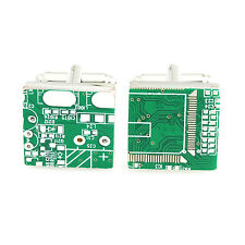 FOR THE TECHIE - COMPUTER CHIP HIGH QUALITY MEN'S NOVELTY CUFFLINKS