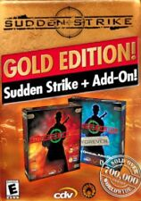 Sudden Strike Gold Edition Pc Brand New Sealed Jewel Case Free US Shipping XP