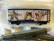Hawthorne Village Silver Moon Express Pack of Friends Box Car Track HO Scale