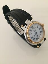 Alfred Dunhill Unisex Dress Watch/ Purchased Year 1996/ 22 Karat Gold and Sil