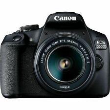 Canon EOS 2000D 24.7MP APS-C Sensor DSLR Camera (Black) with EF-S 18-55mm IS II Lens