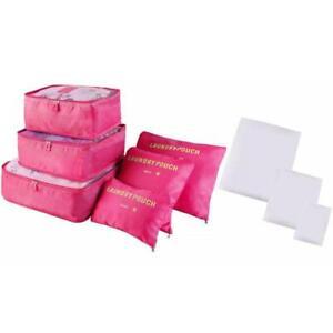 Travel Organizer Packing Cube Storage Bags - 9 Piece Set