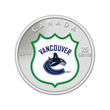 2014 Canada NHL COIN AND STAMP GIFT SET - Vancouver Canucks, 25 Cent Colorized
