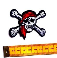 Pirate Jolly Roger Skull and Crossbones Embroidered Iron Sew On Patch Badge