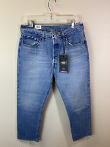 Levi's Womens Size 32 X 26 501 Cropped Jeans Straight Leg High Rise Button Fly