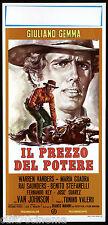 IL PREZZO DEL POTERE LOCANDINA CINEMA GEMMA REY WESTERN 1970 PLAYBILL POSTER