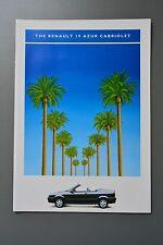 UK Sales Brochure Renault 19 Azur Cabriolet