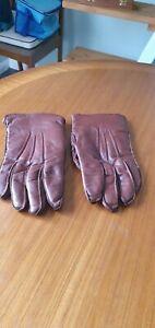 Vintage Men's Brown Leather Driving Gloves