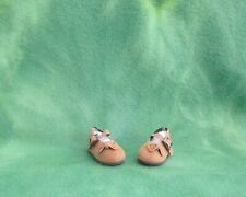 """AMBER COLOR CLOTH MARY JANE SHOES PAOLA REINA 13.5/"""" DOLLS ACCESSORY COLLECTIBLE"""