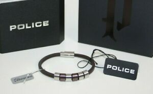 Police Bracelet Sixpack PJ22653BLC/02-19 Leather Braun Stainless Steel