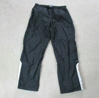 VINTAGE Nike Windbreaker Pants Adult Large Black White Swoosh Pants Men 90s A09*