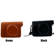 2017 Leather Cameras Cases Bags For Fujifilm Polaroid Instax W300 WIDE 300 Poly