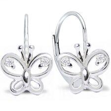 Durchzieher Ohrringe 925 Silber Stern diamantiert Ohrhänger Ohrstecker Damen ❤️