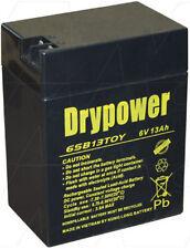 6SB13TOY 6V 13Ah Sealed Lead Acid Battery LP6-13 WP13-6 PS-6120FP CP6140T