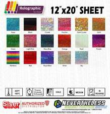 "SISER Holographic HTV - Holo Heat Transfer Vinyl - 12""x20"" - Heat Press Vinyl"