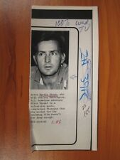 Vintage Ap Wire Press Photo Actor Martin Sheen, Apocalypse Now, The West Wing #2