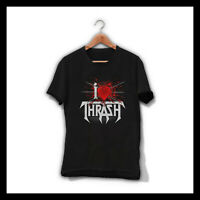 I LOVE THRASH TESTAMENT MEN T-SHIRT TRASH METAL BAND TEE SHIRT MEGADETH SLAYER