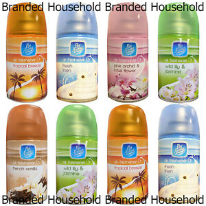 3 x PAN AROMA AUTOMATIC SPRAY REFILLS AIR FRESHENER HOME CHOOSE SCENT 250ML