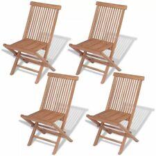 vidaXL 4x Klapstoel voor Buiten Massief Teakhout Klap Tuin Stoel Tuinstoel