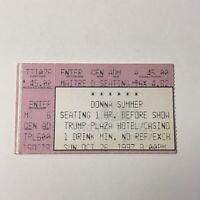 Donna Summer Trump Plaza Hotel Casino Concert Ticket Stub Vintage Oct 26 1997
