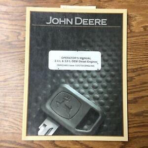 John Deere 2.4L 3.0L 4024TF 5030TF/HF OPERATORS MANUAL MAINTENANCE GUIDE ENGINE