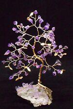 8 inch-Breath-taking AMETHYST gem tree on a Vera Cruz AMETHYST crystal cluster