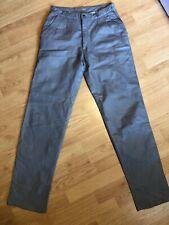 International Creations By Raffaelo Men's Grey Leather Pants Size 31