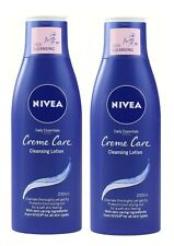 2 x NIVEA 200mL CLEANSING LOTION CREME CARE DAILY ESSENTIALS - NEW