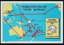 1987 NAURU WORLD POST DAY MINISHEET FINE USED/CTO