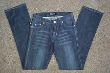 Rock and Republic Women's Straight Leg Denim Blue Jeans Size 24 (27 x 33.5)