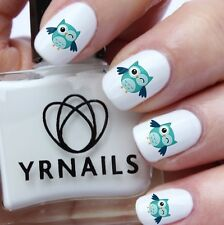 Nail WRAPS Nail Art Water Transfers Decals - Winking Owl - S788