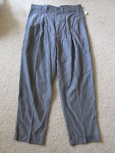 New Vintage Mens LL Lawrence Limited Gray Dress Pants Made in the USA Size 34x30