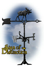 """Whitehall Moose 30"""" Traditional Rooftop Weathervane - Black - with Mount"""