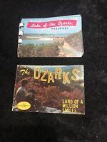Vintage Ozark Missouri Souvenir Photo Album Booklet 1960 Color Prints (2)