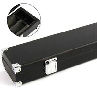 BLACK 2pc Foam Lined Cue Case With Reinforced Corners for Pool Snooker Cue