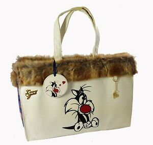 Maxi Bag Sylvester Jr. Embroidered With Fur Synthetic By