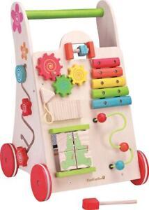 NEW Wooden Baby Child Activity Walker w/ Puzzle, Shaper Sorter, Maze, Xylophone
