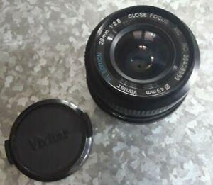 Vivitar RL Edition Close Focus 28mm MC Bayonet Mount Lens With Caps & Bag