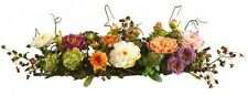 OpenBox Nearly Natural 4665 Peony Centerpiece Silk Flower Arrangement, Mixed