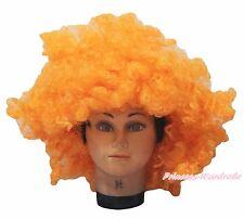 Halloween New Orange Afro Curly Wig Unisex Costume HA28